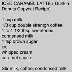 Dunkin donuts caramel iced latte
