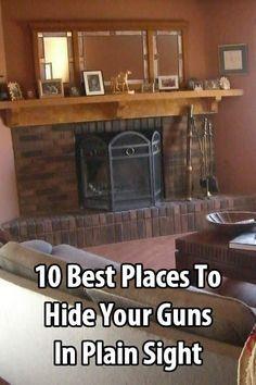 10 Best Places to Hide Your Guns in Plain Sight Urban Survival Site Urban Survival, Homestead Survival, Camping Survival, Survival Prepping, Emergency Preparedness, Survival Gear, Survival Skills, Emergency Preparation, Winter Survival