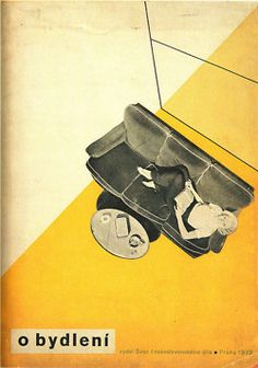 Interior design magazine cover, Czechoslovakia, 1930s
