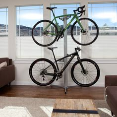 $169.99- Free Shipping.  Looking for a bike storage solution to keep your bikes organized in your home? Consider this Velo Cache Free-standing Bike Rack. Designed with superior quality by Feedback Sports with aluminum columns and heavy duty steel arms.