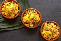 Brazilian Onion and Garlic Rice with Black Eyed Peas