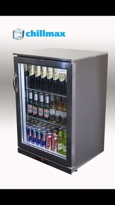Bar fridge glass front