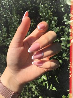 120 the new popular trendy nails ideas 110 Stylish Nails, Trendy Nails, Cute Nails, My Nails, Almond Acrylic Nails, Best Acrylic Nails, Almond Nails, Fabulous Nails, Perfect Nails