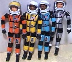 Major Matt Mason and the gang. When I was a kid, I remember my grandma had a couple of these at her house, maybe kept them there for us kids and my cousins to play with.