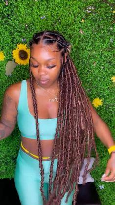 Baddie Hairstyles, Black Girls Hairstyles, Weave Hairstyles, Dyed Natural Hair, Natural Hair Styles, Short Hair Styles, Lemonade Braids Hairstyles, Hair Junkie, Birthday Hair