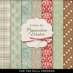 Freebies Kit of Backgrounds - Premonition Winter
