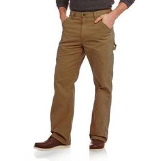 Faded Glory Men's Canvas Utility Pant, Size: 38 x 34, Brown