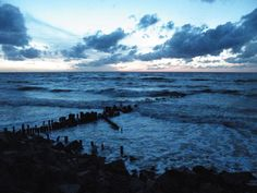 Baltic Sea After Sunset (Niechorze, Poland) Baltic Sea, The Places Youll Go, Mother Nature, Seaside, The Good Place, My Photos, To Go, Waves, Explore