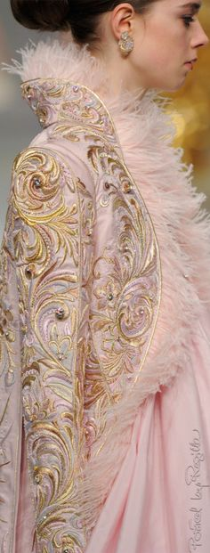 Beautiful brocade (=) #embroidery #nude #lingerie #macarons #versailles