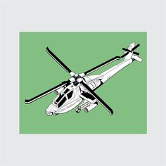 Helicopter Art Print, 8x10 PRINTABLE, AH-64 Apache, Instant Download, Digital