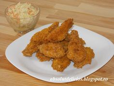 Absolut Delicios: ARIPIOARE DE PUI CROCANTE CA LA KFC (CRISPY WINGS) Kfc, 30 Minute Meals, Fried Chicken, Fries, Cooking Recipes, Meat, Food, Roasted Chicken, Eten