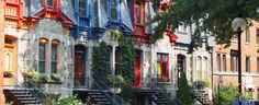 Colorful Houses in Mount Royal (Montreal, Quebec)