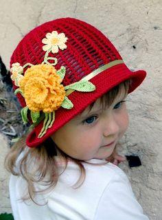 Красивые вязаные крючком шляпы для девочек. Beautiful crochet hats for g...