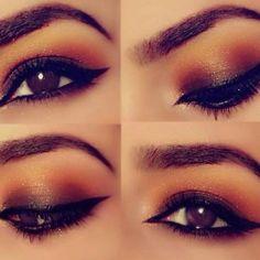 Make perfeita para olhos castanho escuro                              …