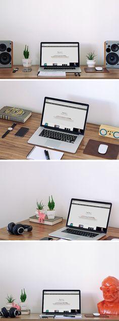 Free MacBook Workspace MockUp (191 MB) | By Bruno Marinho on GraphicBurger