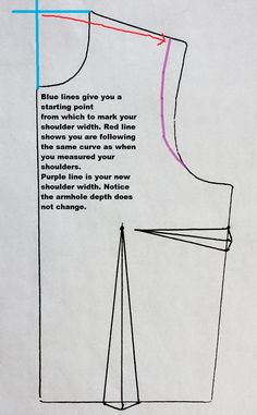 Artsybuildinglady: Shoulder Adjustment On A Pattern