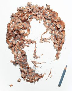 pencil shaving art 1