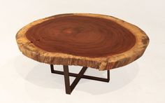 """Solid """"Devil's Ear"""" tree round coffee table image 3"""