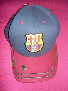 41d419abcef Barcelona FCB Barca Rhinox Double Stitch Hat Cap Spain Espana Soccer C1E12