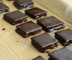 Chocolate covered graham crackers.