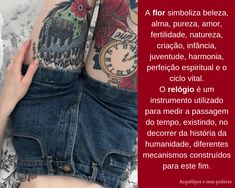 Flor x Relógio Facebook Sign Up, Tattoo Meanings, Fertility, Tattoos, Flower