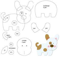 игрушки из фетра выкройки собачка: 19 тыс изображений найдено в Яндекс.Картинках