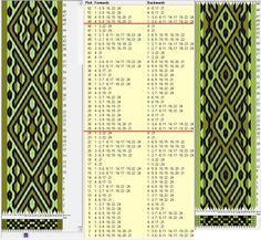 Two opposite threadings, same movements 24 tarjetas, 3 colores, repite cada 24 movimientos // sed_550 diseñado en GTT༺❁