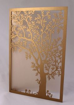 Make your wedding invites stand out with some creative laser cut card. Laser Cut Screens, Laser Cut Panels, Laser Cut Metal, Laser Cutting, Laser Cutter Projects, Metal Screen, Scroll Saw Patterns, Wooden Art, Metal Wall Art