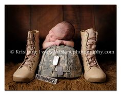Military Newborn Portrait- Definitely want some of these of both my littles since we didn't have newborn pics last time.