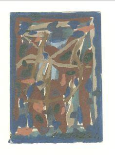 E. Besozzi pitt. s.d. (1959) Composizione tempera su cartoncino cm. 7x4,9 arc. 630