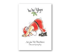 As someone who loves doing yoga, I can tell you that this practice is about more than just a workout, it is a lifestyle. This means that any yoga gift ideas are not just welcome, they are probably … Christmas Images, Santa Christmas, All Things Christmas, Christmas Cards, Dancer Pose Yoga, Dancers Pose, Funny Yoga Pictures, Santa Crafts, Yoga Gifts