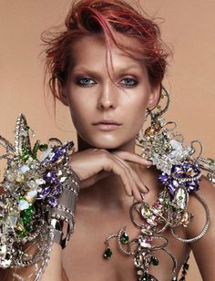 Karolin Wolter by Lado Alexi and Swarovski Elements for Vogue Germany Christmas 2012