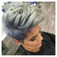 Nice color,  pixies  punk hair