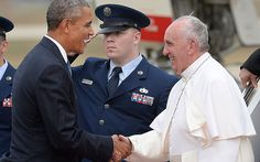 Devil in disguise? Barack Obama's halo drops in Pope Francis photo ...