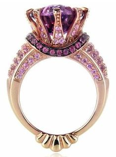 Incredible piece by Le Vian. Rose gold, amethyst and black rhodium ring <3