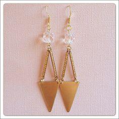Double Drop Triangle Earrings by elladolce on Etsy, $18.00