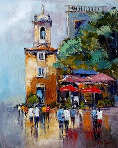 Sintra in the Evening - Portugal by james pratt Oil ~ 20 x 16