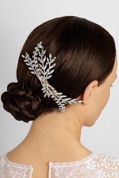 Jennifer Behr | Grand Laurel Swarovski crystal-embellished hair comb