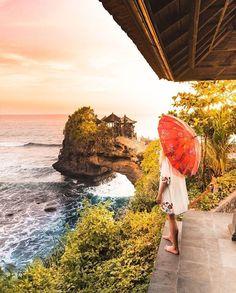 Location: Tanah Lot Temple, Bali, #Indonesia  Photo by: IG @saltinourhair