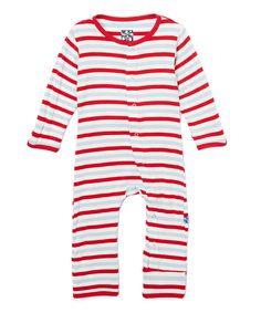Look at this #zulilyfind! Balloon Stripe Coveralls - Infant & Kids by KicKee Pants #zulilyfinds