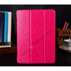 Crazy Horse Texture Magnetic Smart Stand Leather Case for iPad Air - Hot pink US$17.99