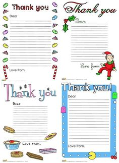 Free Printable Christmas Thank You Letters  Free Printable