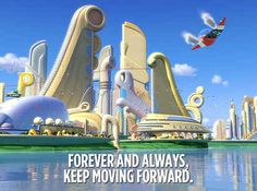 Nice 21 Invaluable Life Lessons We Learned From Disney Movies. Pixar Quotes, Disney Movie Quotes, Film Quotes, Cartoon Network Adventure Time, Adventure Time Anime, Keep Moving Forward Quotes, Disney Lessons, Romance Movies Best, Meet The Robinson