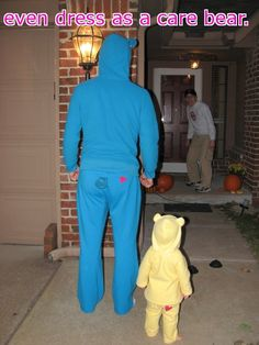 A father will do anything for his daughter... too cute-- I sooo cant wait untill Lucy Ann wants to go trick or treating. ha ha ha
