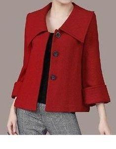 Women's Large lapel Petal Collars Wrap Sleeves Wool by zeniche Women's Large lapel Petal Co Look Fashion, Winter Fashion, Womens Fashion, Fashion Design, Couture Dresses, Fashion Dresses, Mode Mantel, Winter Stil, Blazer Outfits