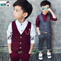 Kids Boys Plaid Waistcoat Suit Formal Party Prom Wedding Suits Page Boy Suit New #fashion #clothing #shoes #accessories #kidsclothingshoesaccs #boysclothingsizes4up #ad (ebay link)