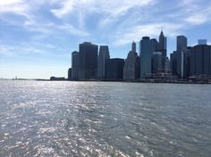 From the water taxi heading to Wall Street