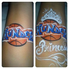 Okc Thunder face painting, cheek art or mask idea I painted a few weeks ago. for both a boy and a girl. Face Painting Designs, Body Painting, Paint Designs, Cheek Art, Face Art, Cute Designs, Design Tutorials, Corporate Events, Face And Body