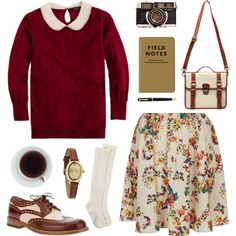 """The peter pan collar"" by hanaglatison on Polyvore"