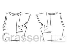 Выкройка топа, модель 171, магазин выкроек grasser.ru, #sewingpattern #pattern…